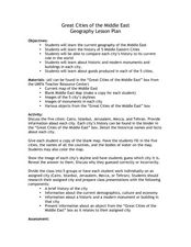 Great Cities of the Middle East Lesson Plan