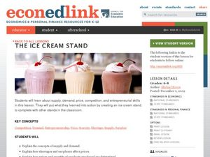 Ice Cream Stand Lesson Plan