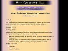 NON-EUCLIDEAN GEOMETRY. Lesson Plan