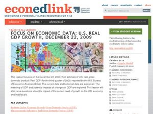 Focus on Economic Data: U.S. Real GDP Growth, December 22, 2009 Lesson Plan