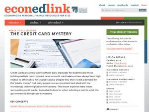 The Credit Card Mystery Lesson Plan