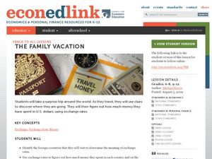 The Family Vacation Lesson Plan