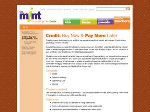 Credit: Buy Now & Pay Later Lesson Plan