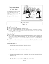 Study Guide: The Scarlet Letter Worksheet