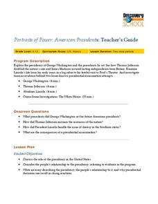 Portraits of Power:  American Presidents Lesson Plan