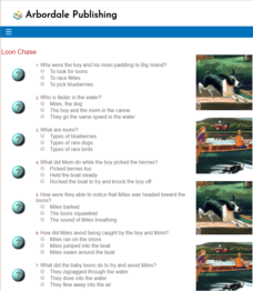 Loon Chase: Reading Quiz Interactive
