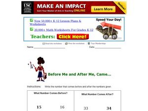 Before Me, After me...Came? Worksheet