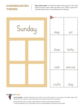 Days of the Week-Sunday Worksheet