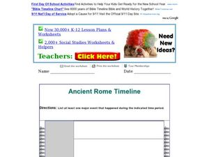 Ancient Rome Timeline Worksheet