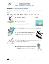 "Future Time With ""Going To"" Worksheet"
