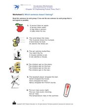 Which Sentence Doesn't Belong? Worksheet