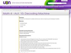 Decoding Machine Lesson Plan