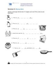Picture Words Beginning With P Worksheet