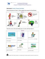 Verbs: Present Progressive Worksheet