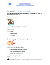 Using the Simple Present: Everyday Activities, Page 1 Worksheet
