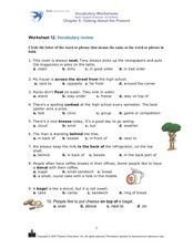 Vocabulary Review: Talking About the Present Worksheet 12 Worksheet