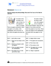 Present Tense: Is/Are Worksheet