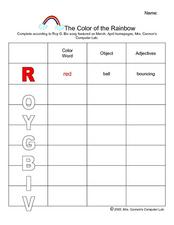 The Color of the Rainbow Lesson Plan