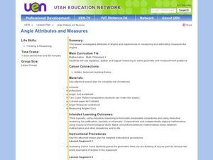 Angle Attributes and Measures Lesson Plan