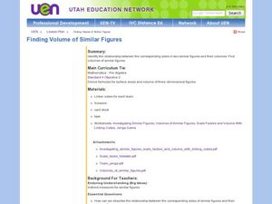 Finding Volume of Similar Figures Lesson Plan