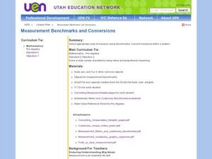 Measurement Benchmarks and Conversions Lesson Plan