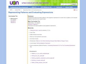 Representing Patterns & Evaluating Expressions Lesson Plan