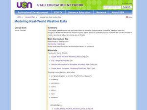 Creating a Mathematical Model Using Weather Data Lesson Plan