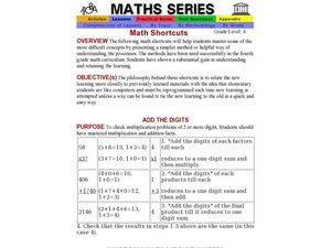 Math Shortcuts Lesson Plan