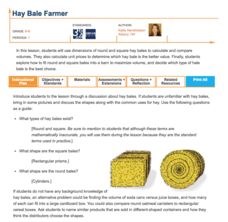 Hay Bale Farmer Lesson Plan