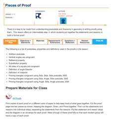 Pieces of Proof Lesson Plan