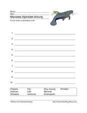 Manatee Alphabet Activity Worksheet
