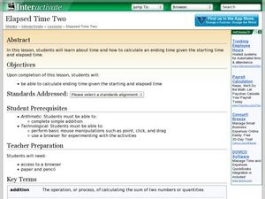 Elapsed Time Two Lesson Plan