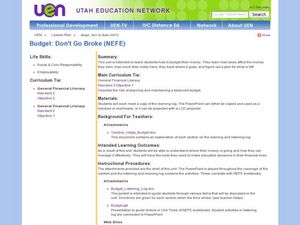 Budget: Don't Go Broke (NEFE) Lesson Plan