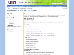Comparing Utah's Past and Present Government Lesson Plan