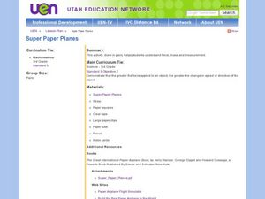 Super Paper Planes Lesson Plan