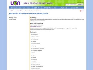 Mountain Man Measurement Activity Lesson Plan