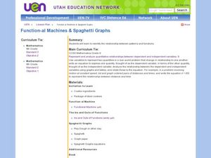 Function-al Machines and Spaghetti Graphs Lesson Plan