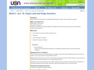 Angle Land and Angle Aerobics Lesson Plan