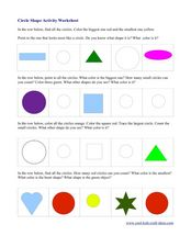 Circle Shape Activity Worksheet Worksheet