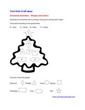 Christmas Activity: Shapes and Colors Worksheet