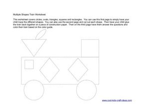 Multiple Shapes Train Worksheet Worksheet