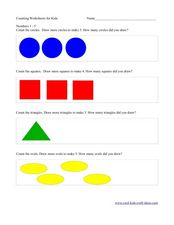 Counting and Drawing Circles Worksheet