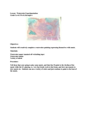 Watercolor Experimentation Lesson Plan