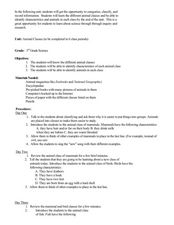 Animal Classes Lesson Plan