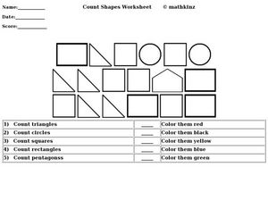 Count Shapes Worksheet Worksheet