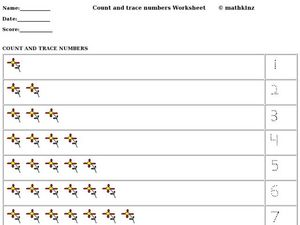 Count and Trace Numbers Worksheet