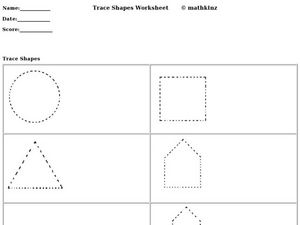 Trace Shapes Worksheet Worksheet