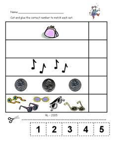 Numbers matching Worksheet