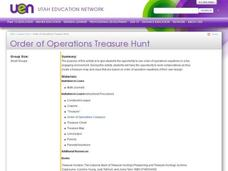 Order of Operations Treasure Hunt Lesson Plan