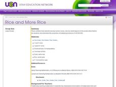 Rice and More Rice Lesson Plan
